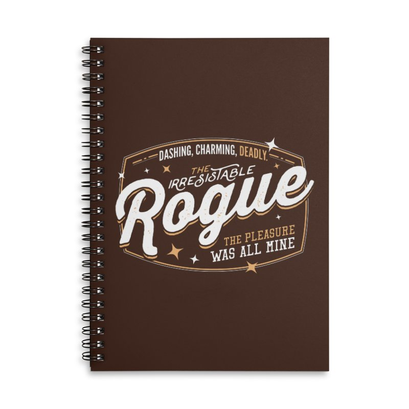 D&D Rogue Accessories Lined Spiral Notebook by Carl Huber's Artist Shop