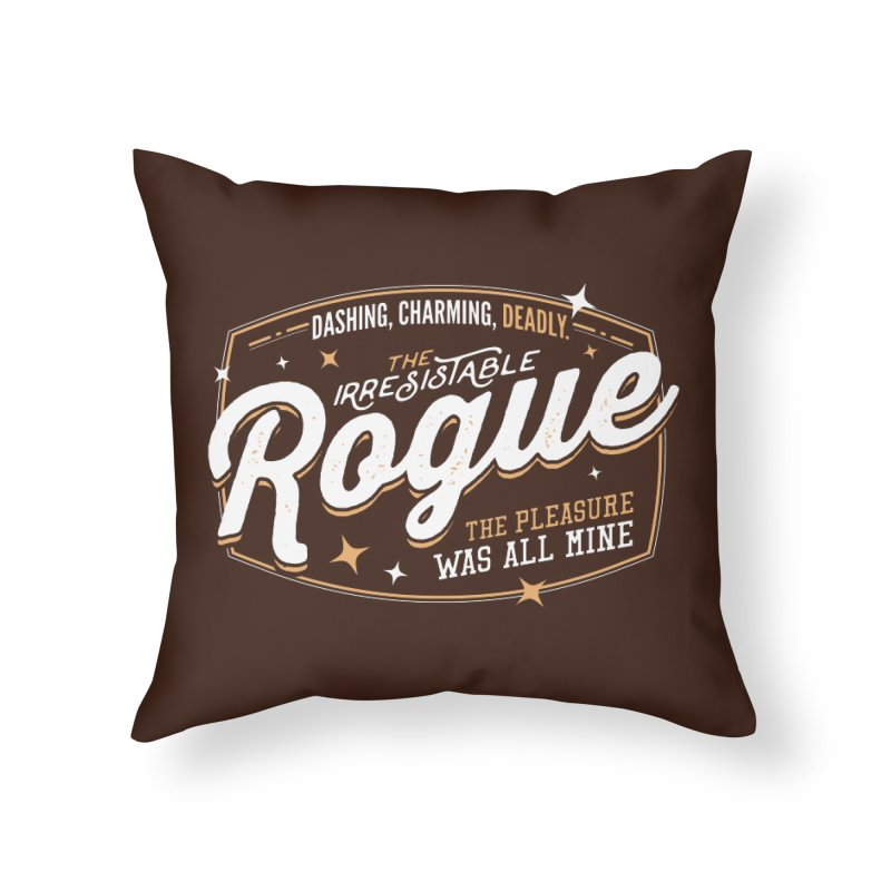 D&D Rogue Home Throw Pillow by Carl Huber's Artist Shop