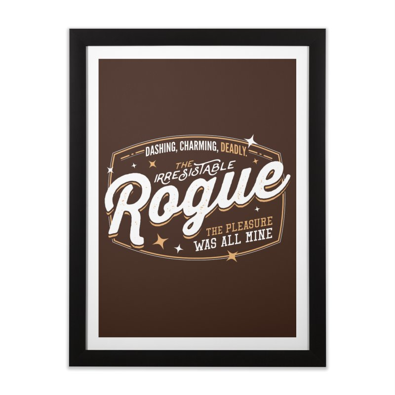 D&D Rogue Home Framed Fine Art Print by carlhuber's Artist Shop