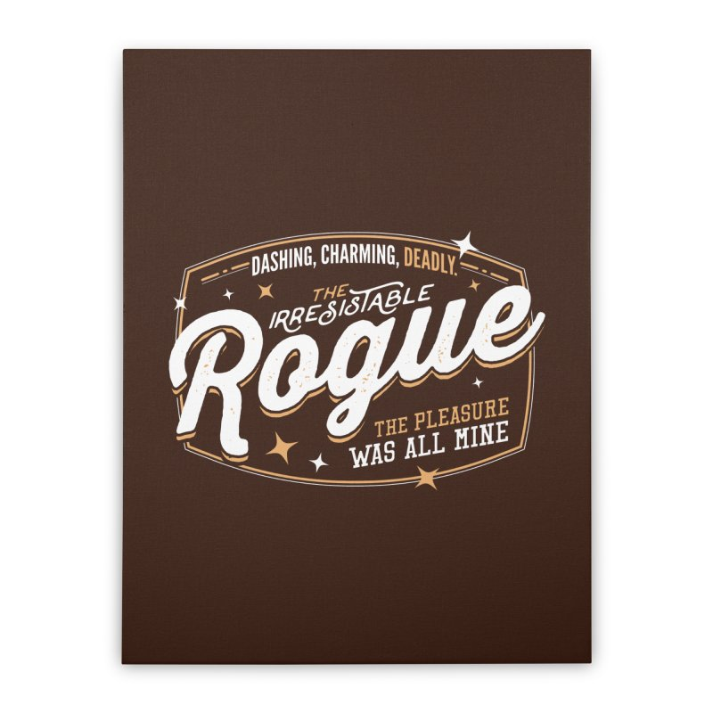D&D Rogue Home Stretched Canvas by Carl Huber's Artist Shop
