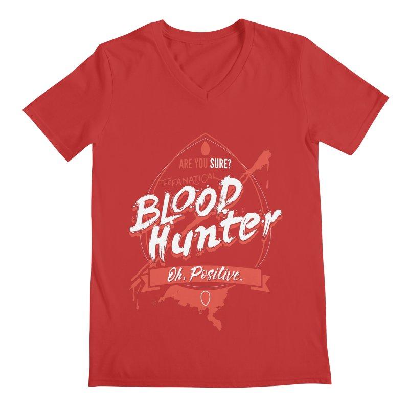 D&D Blood Hunter Men's Regular V-Neck by Carl Huber's Artist Shop