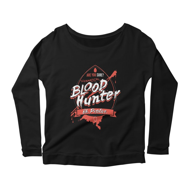 D&D Blood Hunter Women's Scoop Neck Longsleeve T-Shirt by Carl Huber's Artist Shop