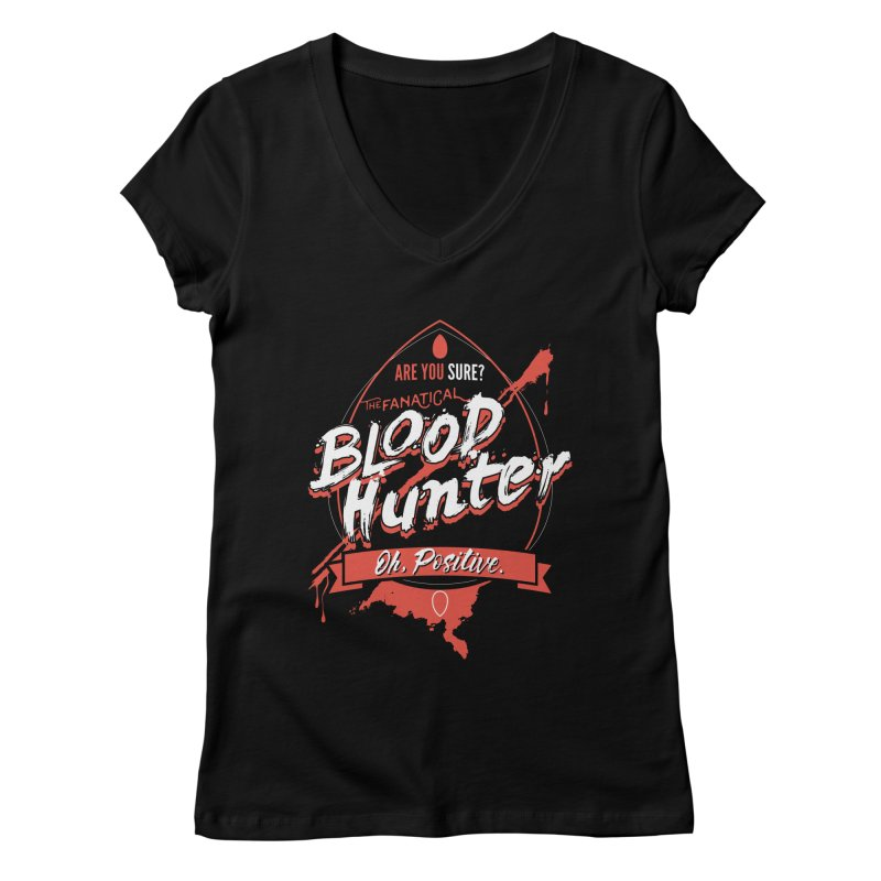 D&D Blood Hunter Women's Regular V-Neck by Carl Huber's Artist Shop