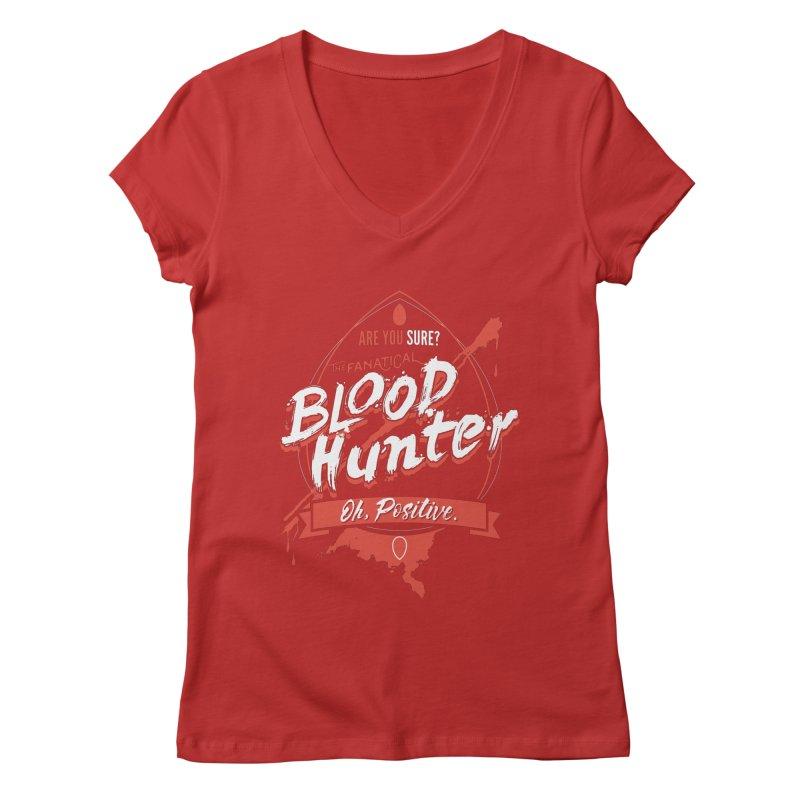 D&D Blood Hunter Women's Regular V-Neck by Carl Huber's Artist Shop