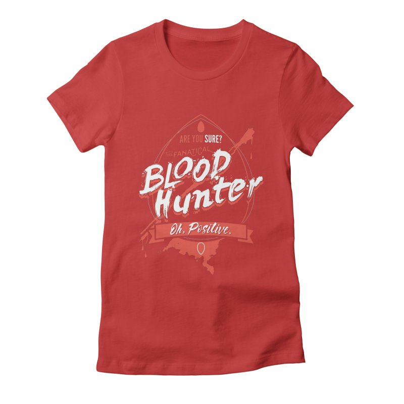 D&D Blood Hunter Women's Fitted T-Shirt by Carl Huber's Artist Shop