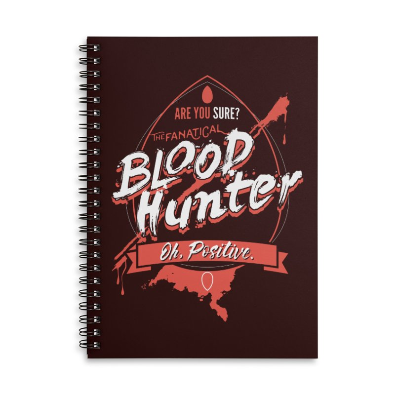 D&D Blood Hunter Accessories Lined Spiral Notebook by Carl Huber's Artist Shop