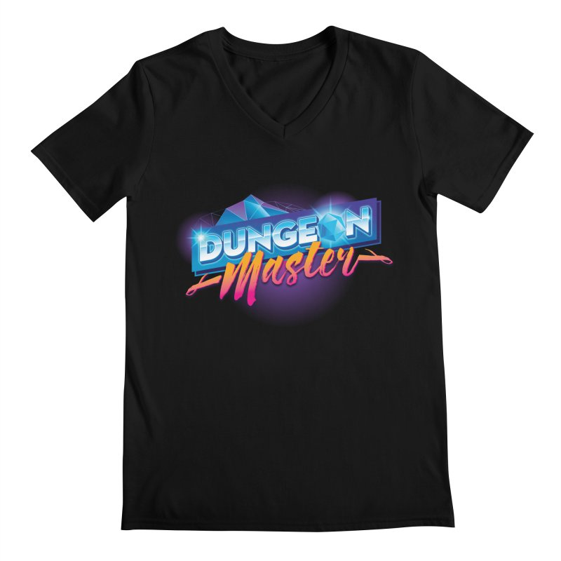 Dungeons and Dragons Master OutRun in Men's Regular V-Neck Black by Carl Huber's Artist Shop