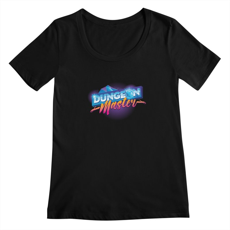 Dungeons and Dragons Master OutRun Women's Scoopneck by carlhuber's Artist Shop