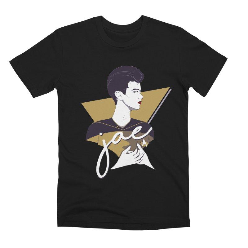 Space Lieutenant Men's Premium T-Shirt by carlhuber's Artist Shop