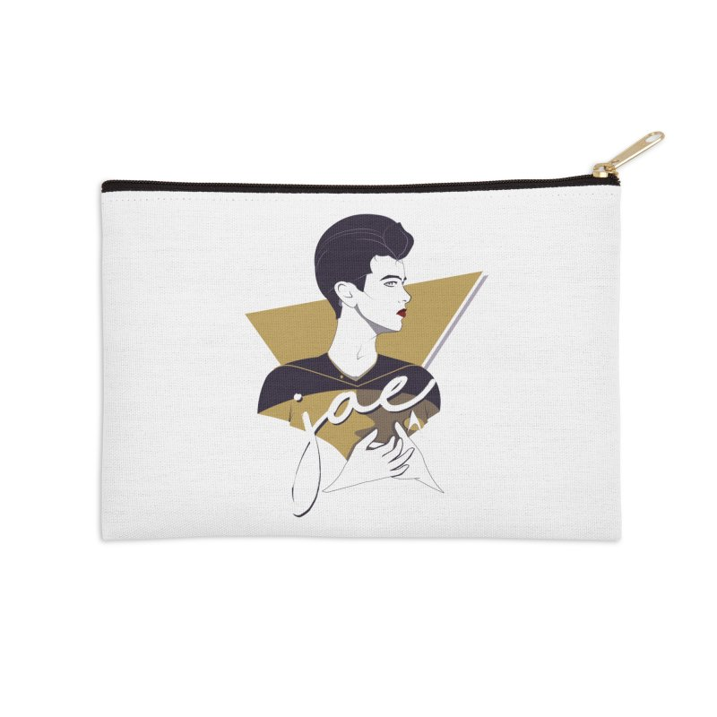 Space Lieutenant Accessories Zip Pouch by Carl Huber's Artist Shop