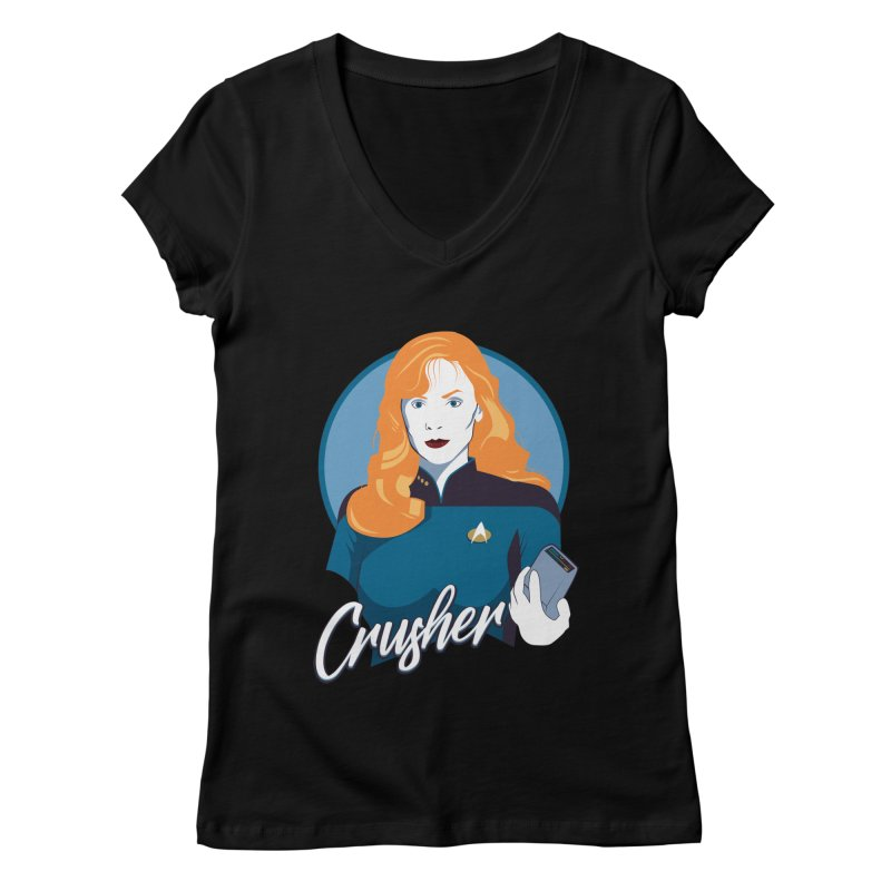 Space Doctor Women's Regular V-Neck by Carl Huber's Artist Shop