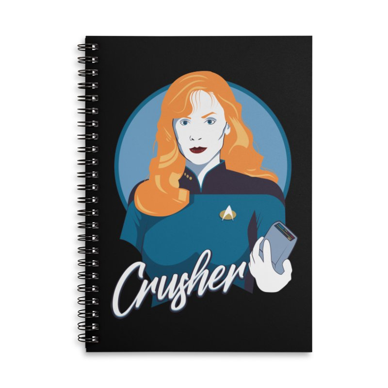 Space Doctor Accessories Lined Spiral Notebook by Carl Huber's Artist Shop