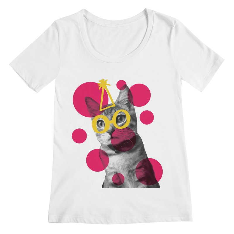 Kitten Party Women's Scoopneck by carlijaynedesigns's Artist Shop