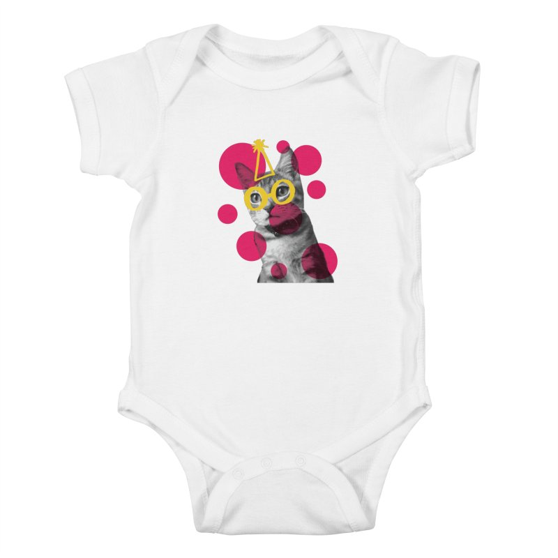 Kitten Party Kids Baby Bodysuit by carlijaynedesigns's Artist Shop