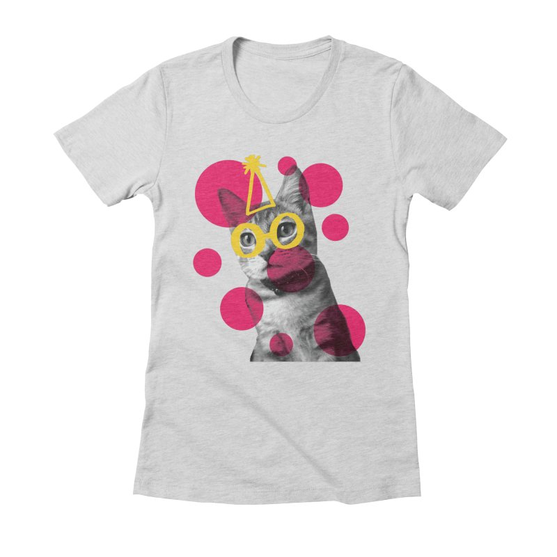 Kitten Party Women's Fitted T-Shirt by carlijaynedesigns's Artist Shop