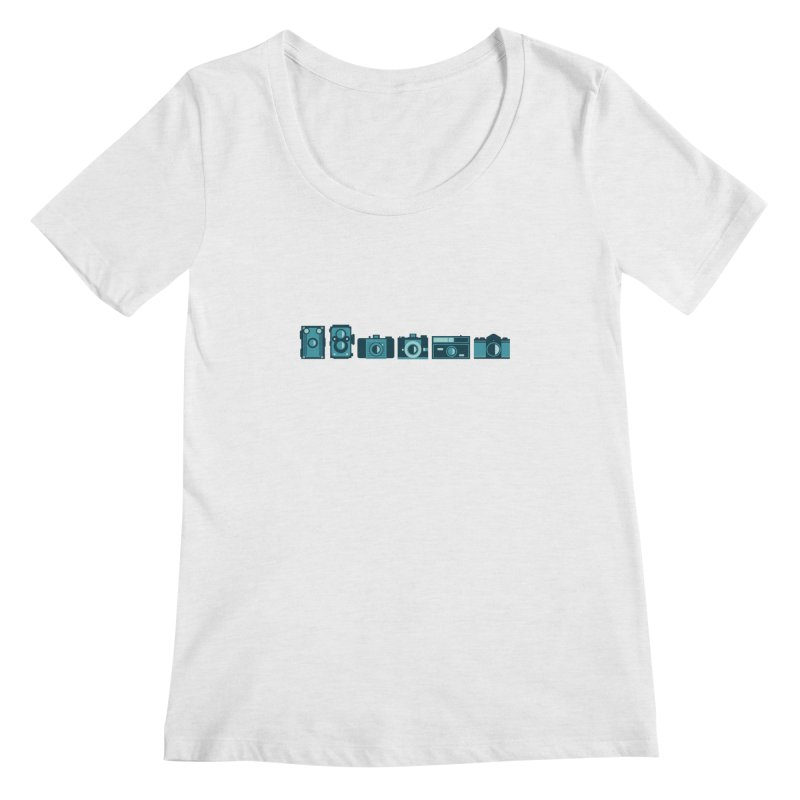 Film Cameras Women's Scoopneck by carlijaynedesigns's Artist Shop
