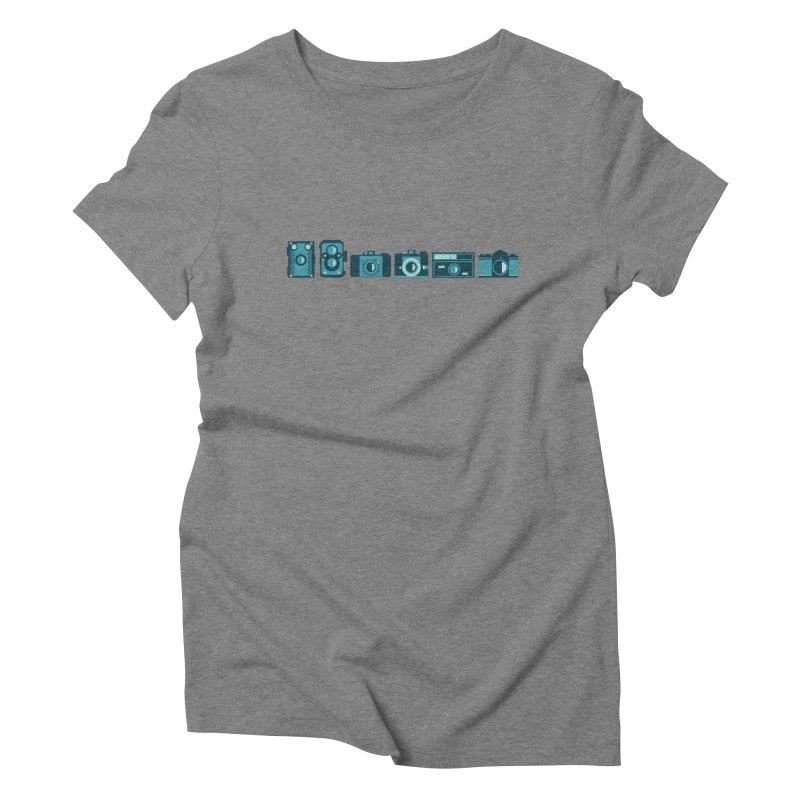 Film Cameras Women's Triblend T-Shirt by carlijaynedesigns's Artist Shop