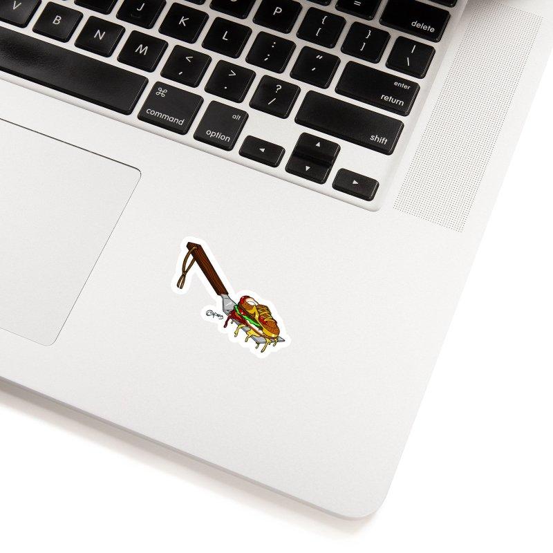 Fresh Kicks off the Grill Accessories Sticker by Carlos E Mendez Art
