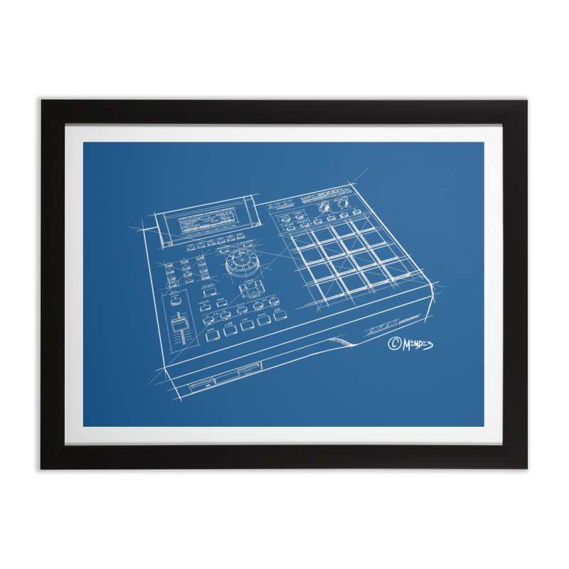 Beatmaker Akai MPC 2000XL Home Framed Fine Art Print by Carlos E Mendez Art - Featured Design (CLICK HERE)