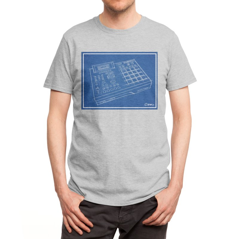 Beatmaker Men's T-Shirt by Carlos E Mendez Art
