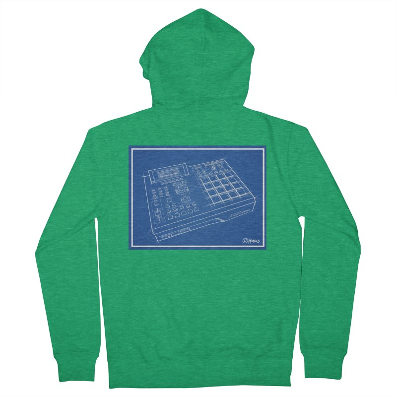 Beatmaker Men's Zip-Up Hoody by Carlos E Mendez Art