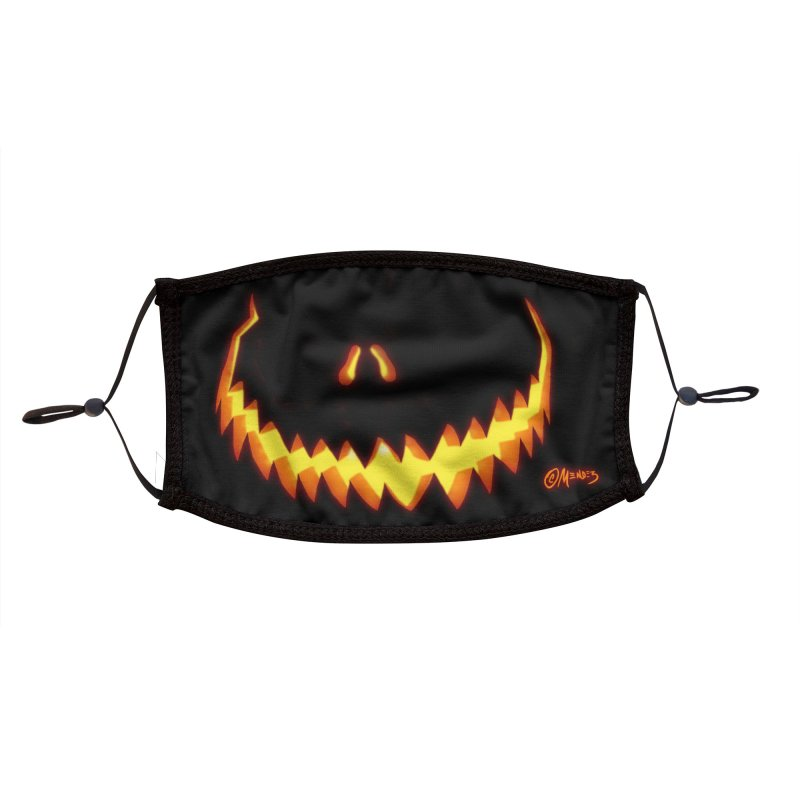 Halloween  Jack O Lantern 3 Accessories Face Mask by Carlos E Mendez Art - Featured Design (CLICK HERE)