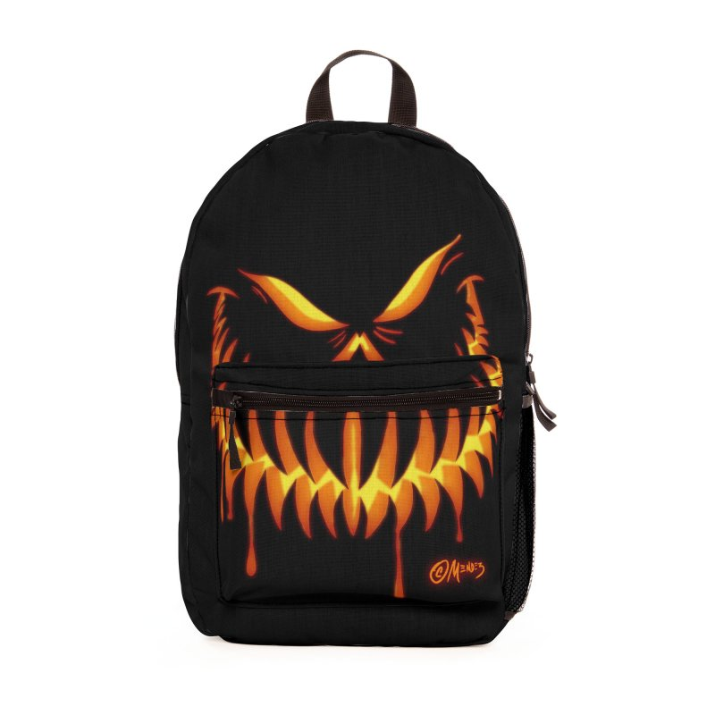 Halloween  Jack O Lantern 4 Accessories Bag by Carlos E Mendez Art - Featured Design (CLICK HERE)