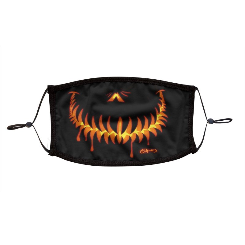 Halloween  Jack O Lantern 4 Accessories Face Mask by Carlos E Mendez Art - Featured Design (CLICK HERE)
