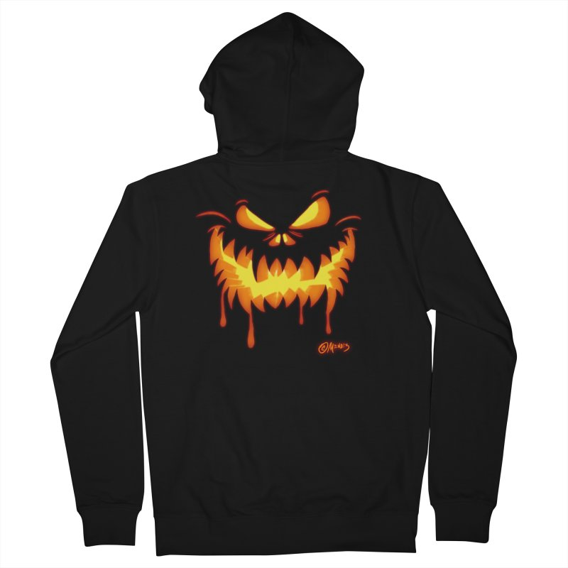 Jack O Lantern 5 Men's Zip-Up Hoody by Carlos E Mendez Art