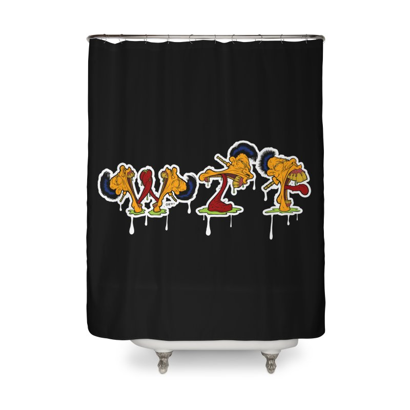 Tongue WTF Home Shower Curtain by Carlos E Mendez Art - Featured Design (CLICK HERE)