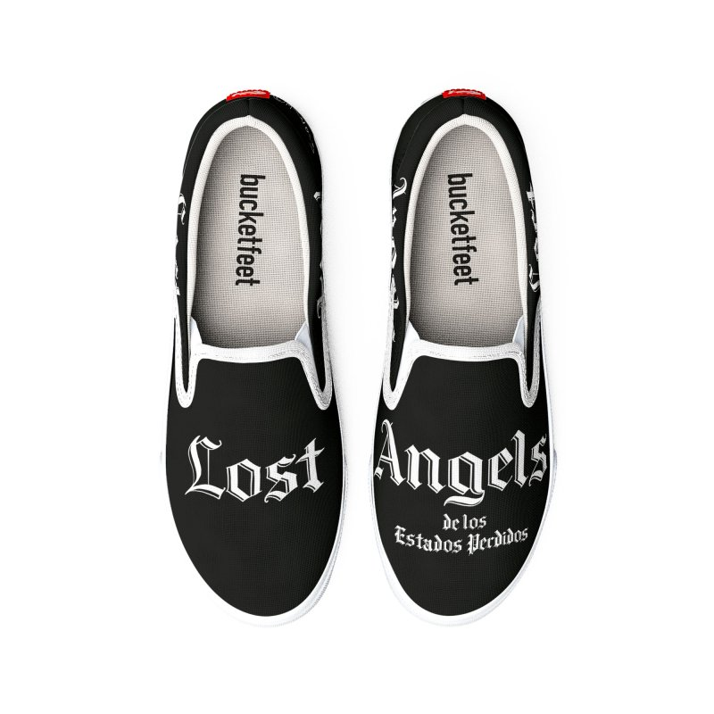 Lost Angels Shoes Black Men's Shoes by Carlos E Mendez Art - Featured Design (CLICK HERE)