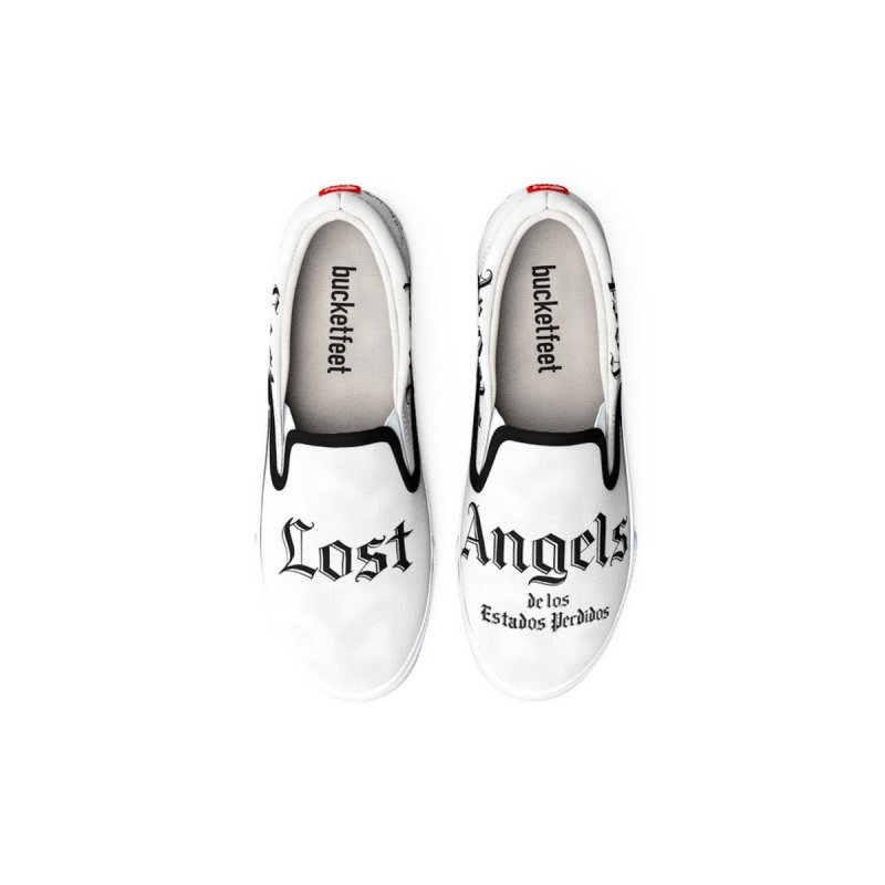 Lost Angels Shoes White Men's Shoes by Carlos E Mendez Art - Featured Design (CLICK HERE)