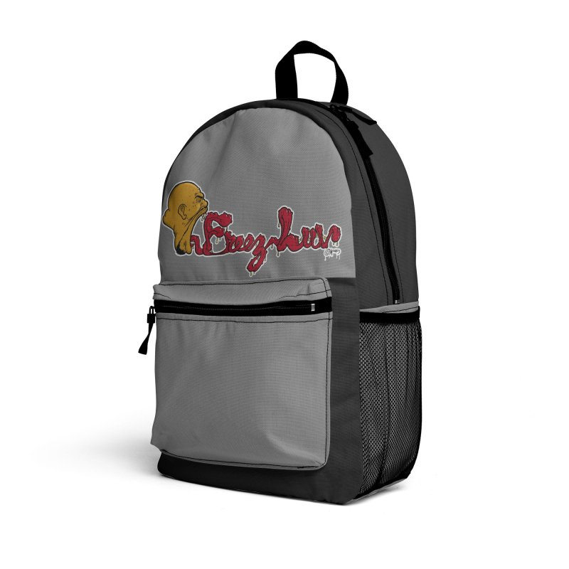 Freez Luv Backpack Accessories Bag by Carlos E Mendez Art - Featured Design (CLICK HERE)