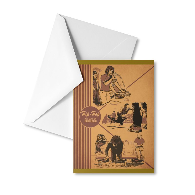 Hip Hop Pee Chee Folder Accessories Greeting Card by Carlos E Mendez Art - Featured Design (CLICK HERE)