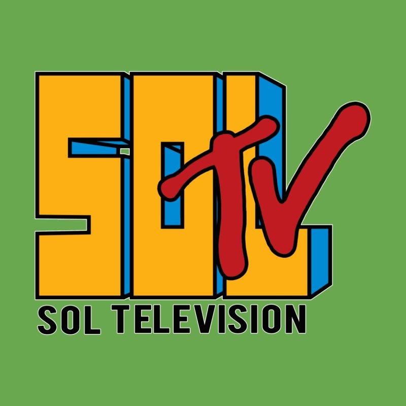 SOL TV Men's Zip-Up Hoody by Carlos E Mendez Art