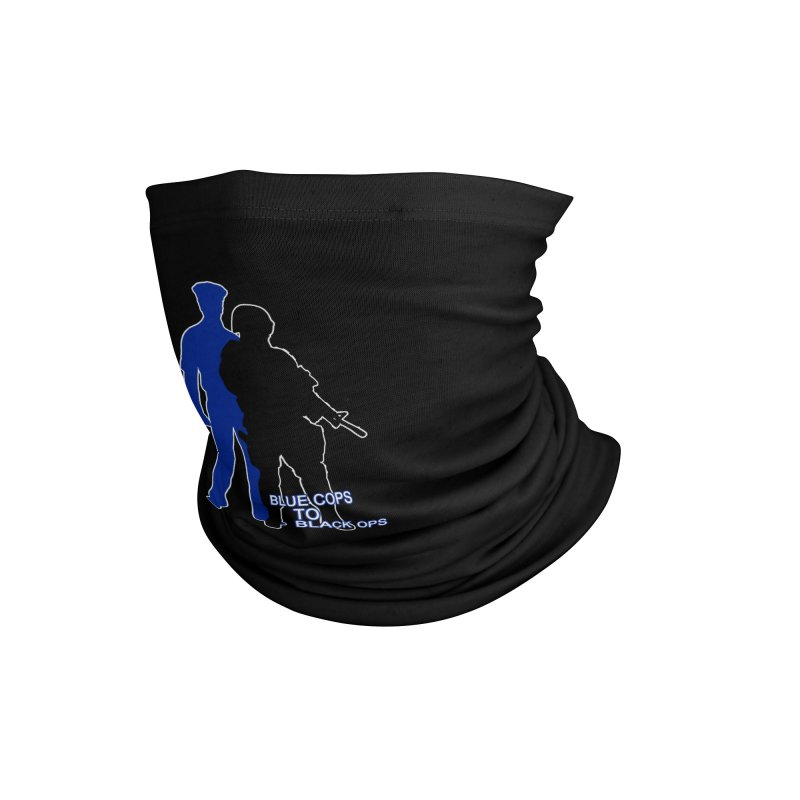 BLUE COPS TO BLACK OPS Accessories Neck Gaiter by Carlos E Mendez Art - Featured Design (CLICK HERE)