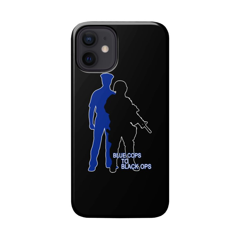 BLUE COPS TO BLACK OPS Accessories Phone Case by Carlos E Mendez Art