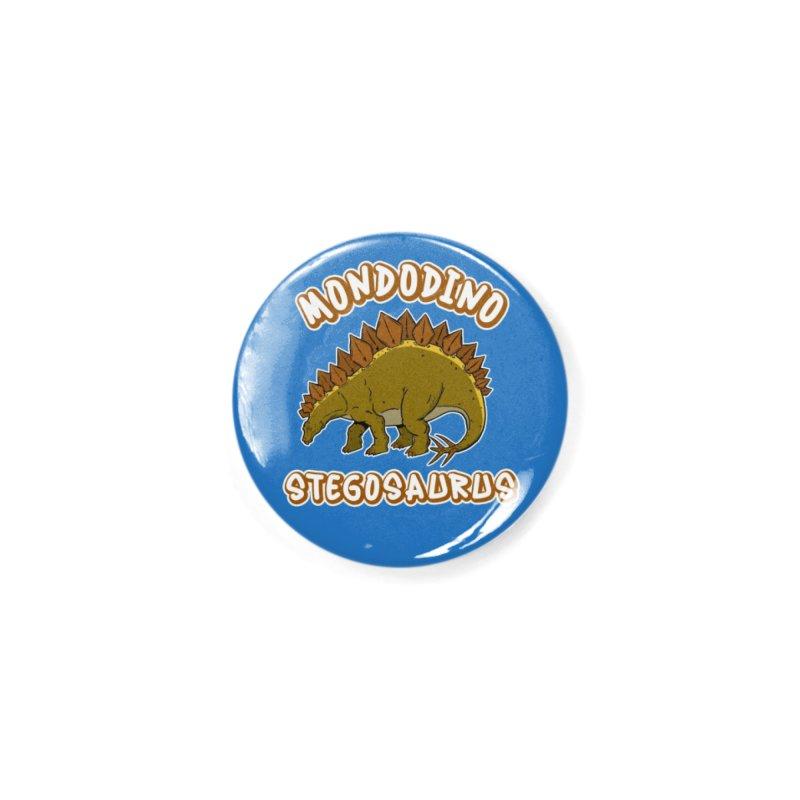 Mondodino - Stegosaurus 1 Accessories Button by Carlos E Mendez Art