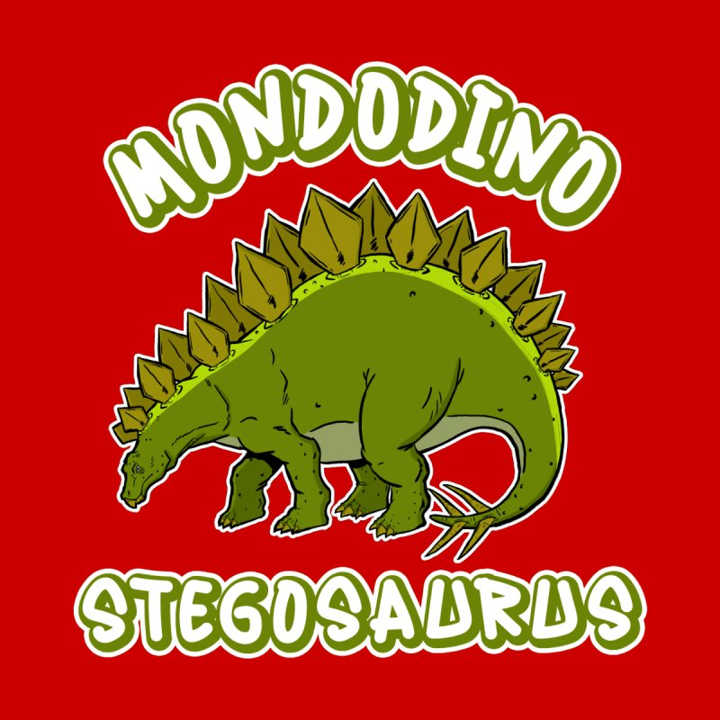 Mondodino - Stegosaurus 4 Accessories Button by Carlos E Mendez Art