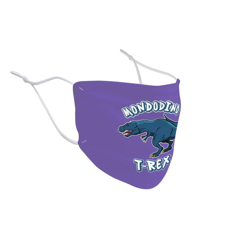 Mondodino - T Rex 1 Accessories Face Mask by Carlos E Mendez Art - Featured Design (CLICK HERE)