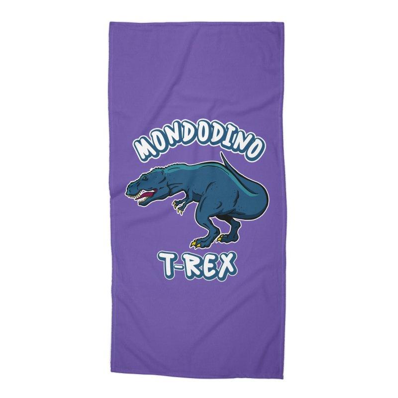 Mondodino - T Rex 1 Accessories Beach Towel by Carlos E Mendez Art - Featured Design (CLICK HERE)