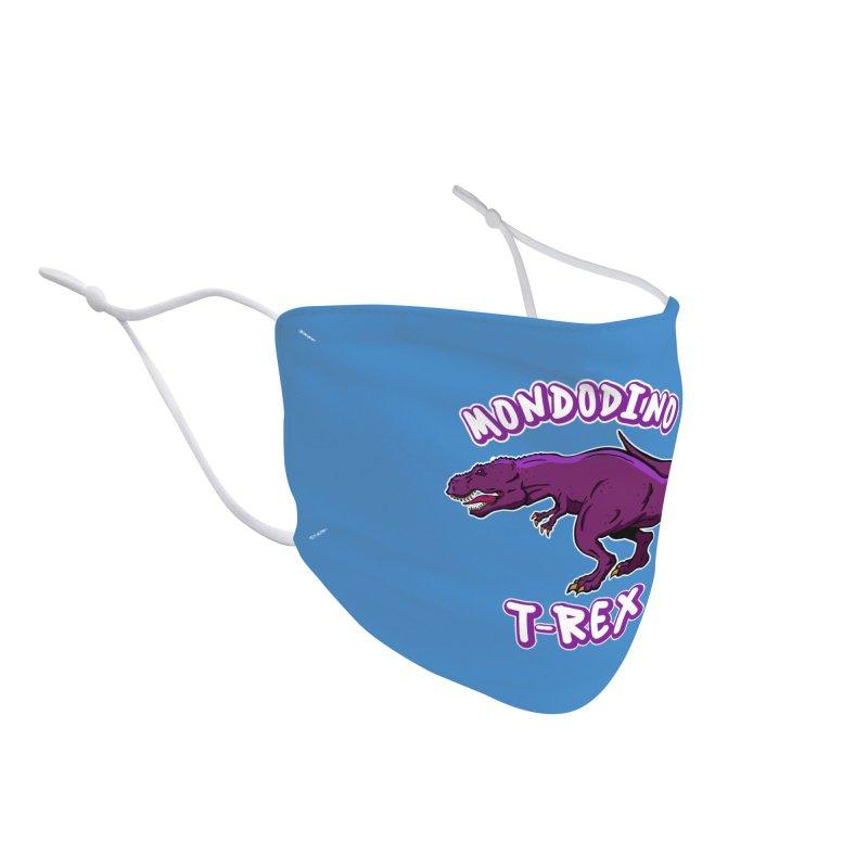 Mondodino - T Rex 2 Accessories Face Mask by Carlos E Mendez Art - Featured Design (CLICK HERE)