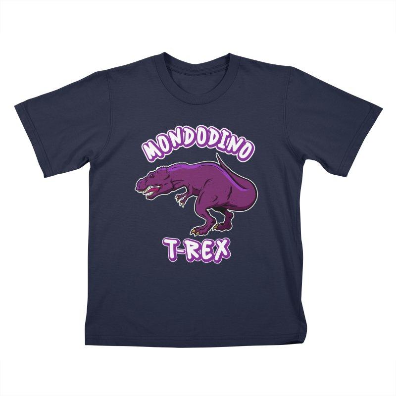 Mondodino - T Rex 2 Kids T-Shirt by Carlos E Mendez Art - Featured Design (CLICK HERE)