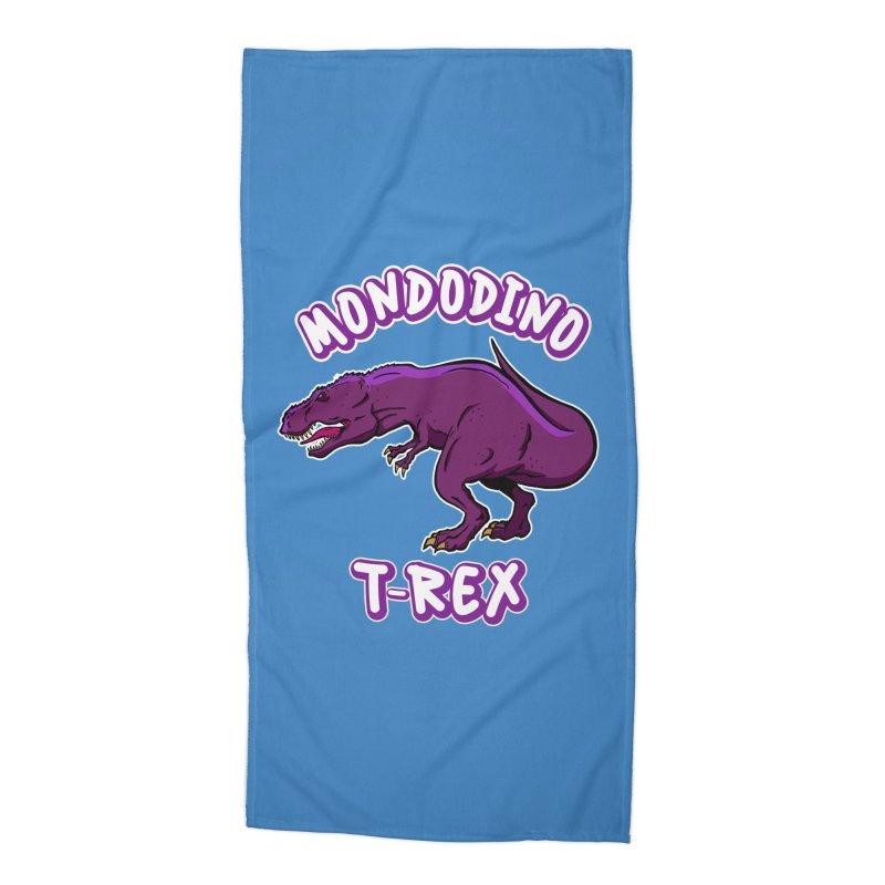 Mondodino - T Rex 2 Accessories Beach Towel by Carlos E Mendez Art - Featured Design (CLICK HERE)