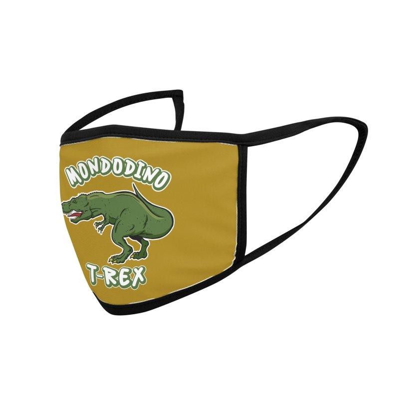Mondodino - T Rex 3 Accessories Face Mask by Carlos E Mendez Art - Featured Design (CLICK HERE)