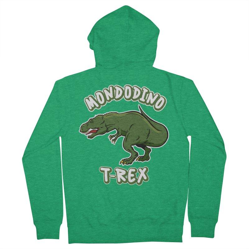 Mondodino - T Rex 3 Women's Zip-Up Hoody by Carlos E Mendez Art - Featured Design (CLICK HERE)