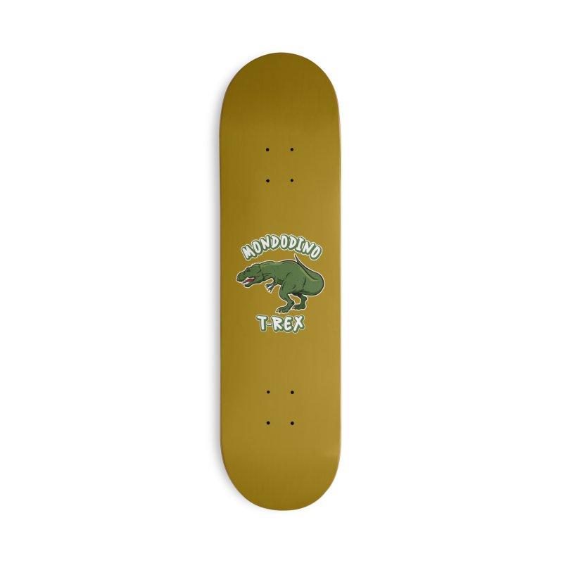 Mondodino - T Rex 3 Accessories Skateboard by Carlos E Mendez Art - Featured Design (CLICK HERE)