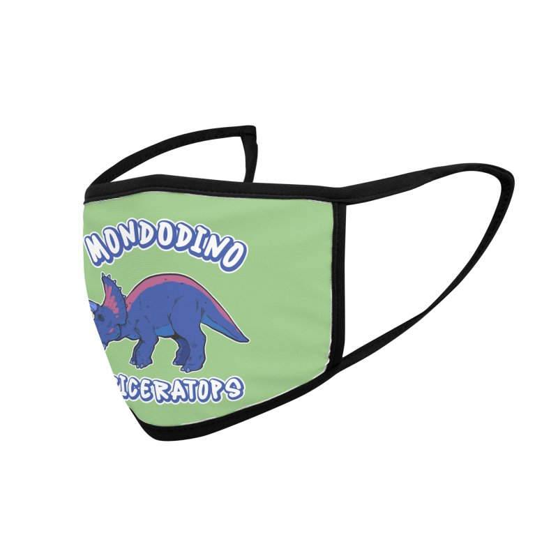 Mondodino - Triceratops 1 Accessories Face Mask by Carlos E Mendez Art - Featured Design (CLICK HERE)