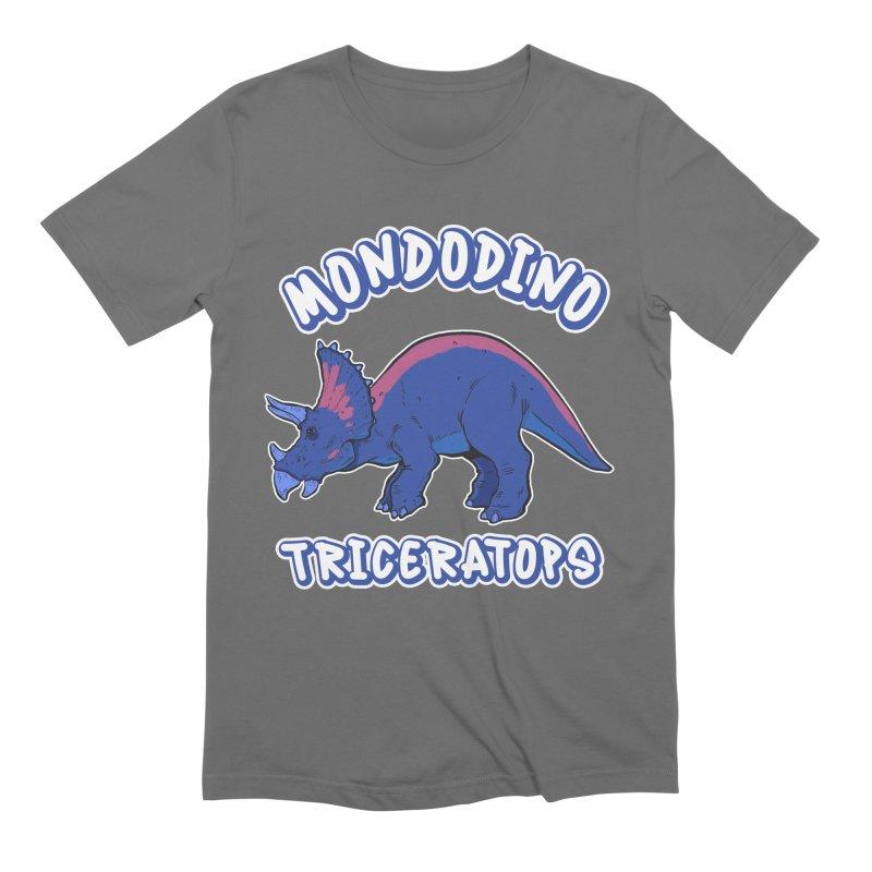 Mondodino - Triceratops 1 Men's T-Shirt by Carlos E Mendez Art - Featured Design (CLICK HERE)