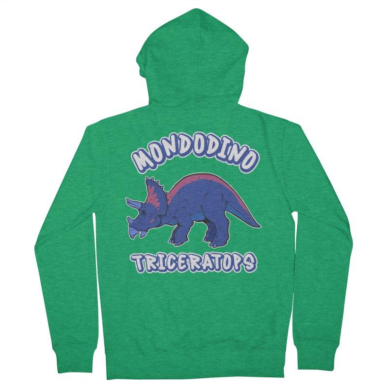 Mondodino - Triceratops 1 Women's Zip-Up Hoody by Carlos E Mendez Art - Featured Design (CLICK HERE)
